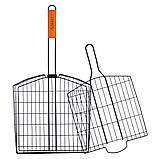 Решітка для гриля Скаут 30.5*32*5.5 см з антипригарним покриттям KM-0741, фото 6