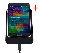 Универсальная зарядка для телефона безпроводная + адаптер. , фото 1