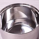 Ківш Kamille KM-4716S  1.8 л з нержавіючої сталі з кришкою і 7-шаровим дном для індукції, фото 5