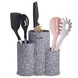 Подставка для ножей и кухонных принадлежностей тройная Ofenbach KM-100212 (22,2 см), фото 5