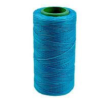 Нить вощеная плоская 1мм (100м) голубая