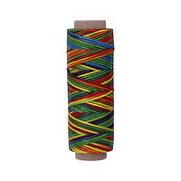 Нить вощеная плоская 1мм (100м) разноцветная