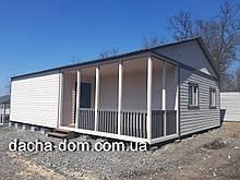 Дом для дачи из корабельной доски 8*11 м