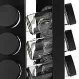 Набор ёмкостей черная для специй на подставке для сервировки стола Ofenbach KM 101001 (12шт), фото 6