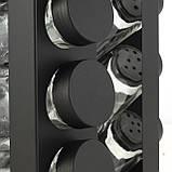 Набор ёмкостей черная для специй на подставке для сервировки стола Ofenbach KM 101001 (12шт), фото 7