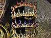 Корона круглая на голову и серьги, набор украшений, АЛЕКСА, фото 4