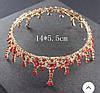 Корона круглая на голову и серьги, набор украшений, АЛЕКСА, фото 7