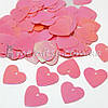 Пайетки Сердечки розовые