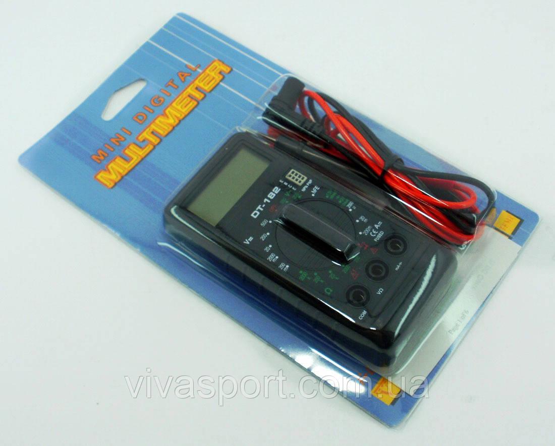 Тестер Mini digital Multimeter DT-182, Цифровой мультиметр DT-182