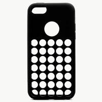 Черный силиконовый чехол с отверстиями для Iphone 5С