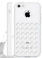 Белый силиконовый чехол с отверстиями для Iphone 5С