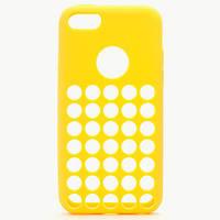 Желтый силиконовый чехол с отверстиями для Iphone 5С