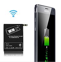 Qi зарядка для телефона Samsung безпроводная + адаптер.
