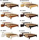 Ліжко півтораспальне в спальню з натуральної деревини буку Рената Естелла, фото 10