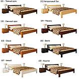 Ліжко односпальне в спальню з натуральної деревини буку Рената Естелла  , фото 10