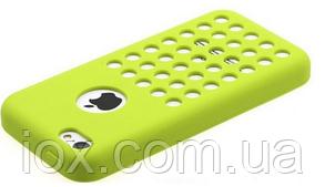 Салатовый силиконовый чехол с отверстиями для Iphone 5С