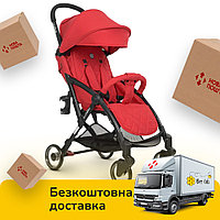 Детская прогулочная коляска (колеса EVA, вес 6,5 кг) El Camino Wish ME 1058 Red Красная