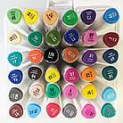 Набір скетч-маркерів 36 шт. для малювання двосторонніх Aihao sketchmarker код: PM514-36, фото 2
