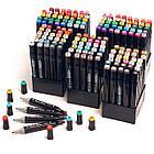 Набор скетч-маркеров 200 шт. для рисования двусторонних Touch (TR204-BL), фото 2