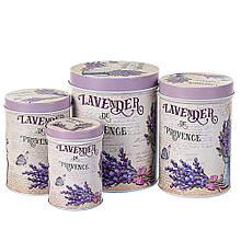 """Набор из 4 контейнеров для продуктов """"Лаванда"""""""