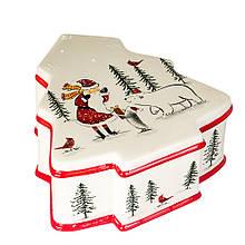 "Ёмкость для хранения ""Дед Мороз с медведем"""