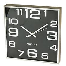 """Часы """"Чёрный ретро квадрат"""" (28см)"""