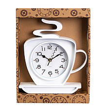 """Часы """"Чашка горячего чая белая"""""""
