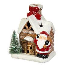 """Фігурка """"Дід Мороз біля будиночка"""""""