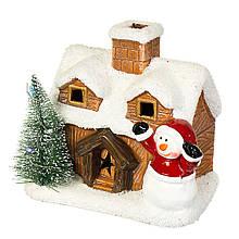 """Фігурка """"Сніговик біля будиночка"""""""