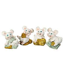 """Фігурка """"Весела миша з грошима"""" (4 види за 2шт)"""