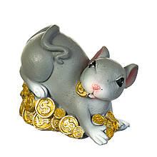"""Фігурка """"Багата мишка з монетами"""" (4 види по 3шт)"""