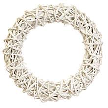"""Вінок з лози білий Плетений коло"""" білий 33 см"""