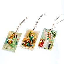 """Декоративные бирочки """"Рождественские ангелы"""""""
