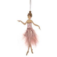 """Подвеска """"Пушистая балерина"""" розовая"""