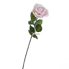 Новорічна троянда 74 см рожева