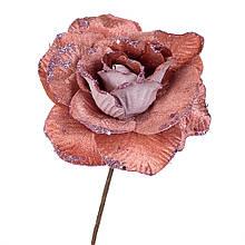 """Квітка """"Зимова троянда"""" рожева"""