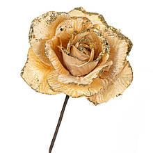 """Квітка """"Зимова троянда"""" жовта"""