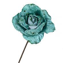 """Квітка """"Зимова троянда"""" смарагд"""