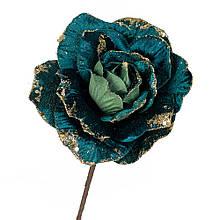 """Квітка """"Зимова троянда"""" синій"""