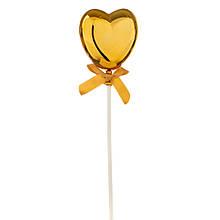 Топпер Шарик в форме сердца золото