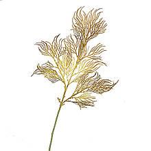 Ветка ивы волнистая желто-золотая искусственная