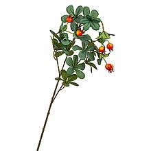 Ветвь шиповника с красно-желтыми ягодами искусственная