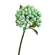 Искусственная ветка с ягодами, зеленая