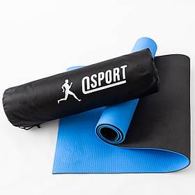 Коврик для йоги и фитнеса + чехол (мат, каремат спортивный) OSPORT ECO Friendly Pro 6мм (n-0015)