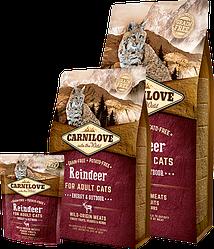 Корм Carnilove Cat Energy & Outdoor 6 кг  (для активных кошек) с мясом северного оленя СРОК 17.11.2021