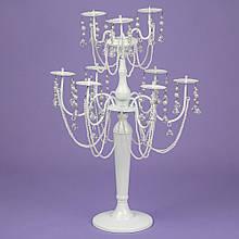 Підсвічник на 9 свічок з кристалами (60 см.)