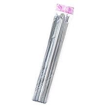 Упаковка бантів 10 шт. сріблястий