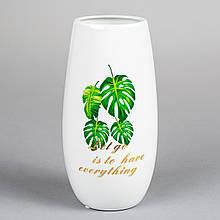 """Керамічна ваза """"Монстера"""" 16 см"""