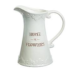 """Керамічна ваза """"Квітковий дім"""", 23 см."""