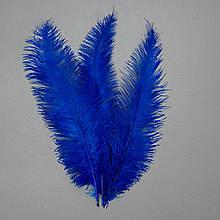 Страусове перо 55 см синьо-фіолетовий